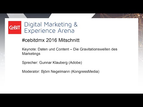 #cebitdmx: Daten und Content – Die Gravitationswellen des Marketings