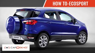 Know Your Ecosport | How To Open The Bonnet | CarDekho.com