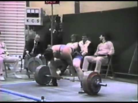 Michiel Wiegman - Dutch Powerlifting Nationals 1985 (1st place)