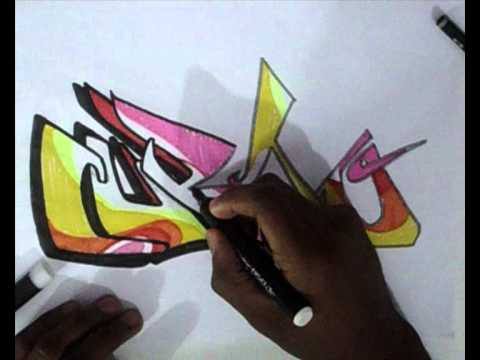 Vídeo Aula com Gene do Grafite 076 - Letra de Graffiti desenhada