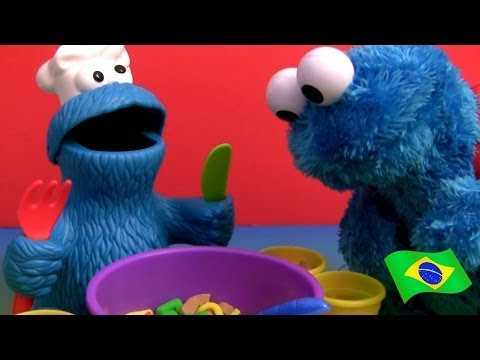 PLAY DOH Almoço Sopa de Letrinhas Monstro de Biscoito Play-Doh Cookie Monster Letter Lunch Playset