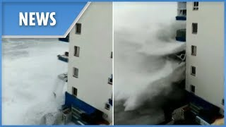 Massive waves devastate Tenerife during worst storm in 40 years - THESUNNEWSPAPER