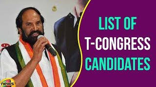 TCongress Releases list of Candidates for Telangana Assembly Polls | 2018 Elections News |Mango News - MANGONEWS