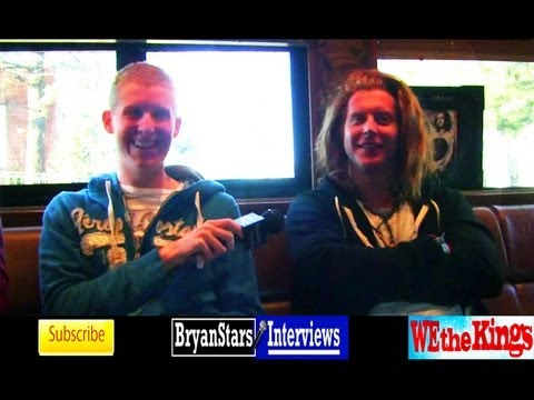 We The Kings Interview #2 Travis Clark & Hunter Thomsen 2012