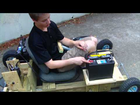 Electric Homemade Wooden Go Kart Run 3