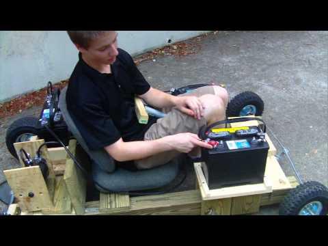 Electric Homemade Wooden Go Kart Run 3