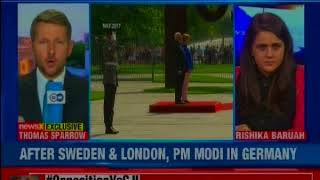 PM Modi is in Germany; will attend a dinner hosted by German Chancellor Angela Merkel - NEWSXLIVE
