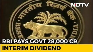 RBI Gives Rs. 28,000 Crore Interim Dividend To Government Before Elections - NDTVPROFIT
