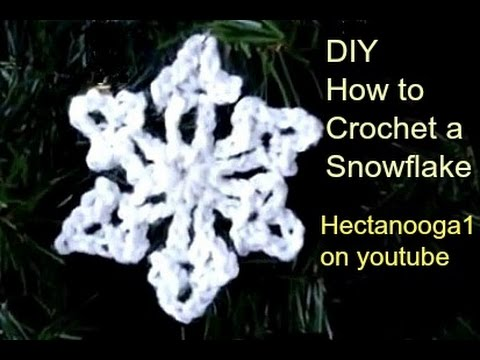 HOW TO CROCHET A SNOWFLAKE ORNAMENT