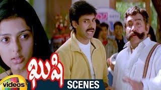 Pawan Kalyan Fooled by Vijayakumar | Kushi Telugu Movie Scenes | Ali | Bhumika | SJ Suriya - MANGOVIDEOS