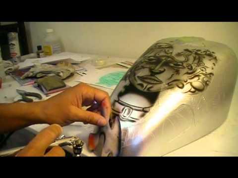 Airbrush Giger Motorcycle Tank