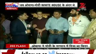 White House Dinner: PM Modi's well-wishers gather outside for a glimpse - ZEENEWS