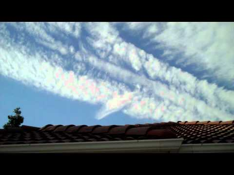 Biggest Chemtrail Disspersment I've Ever Seen 5 31 2011 FRESNO, CA