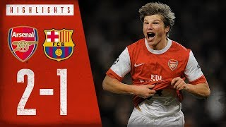 ARSHAVIIIIIIIIN! | Arsenal 2-1 Barcelona | Champions League highlights | Feb 16, 2011