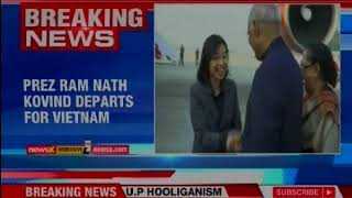 President Ram Nath Kovind departs for Vietnam and Australia for 6 day visit - NEWSXLIVE