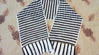 Шарф крючком  Вязанный шарф  Вязание крючком   Крючок для начинающих 2016
