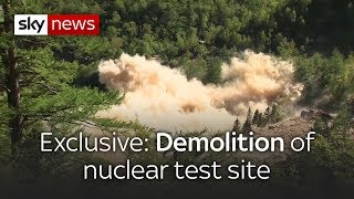 'Spectacular' explosion of North Korea nuclear test site - SKYNEWS
