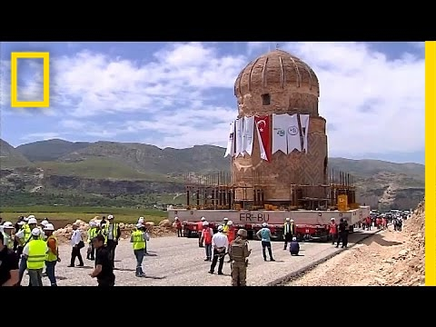 See What It Takes to Move a 1,100-Ton Stone Tomb | National Geographic