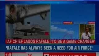 Indian Air Force Chief BS Dhanoa Lauds Rafale Aircraft; Warns Pakistan to Not Come Near LoC - NEWSXLIVE