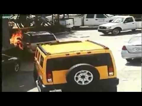 Acidente em posto de gasolina em Miami.mp4