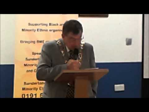 The Right Worshipful Mayor of Sunderland, Councillor Robert Heron at our Launch Event 12 08 2013
