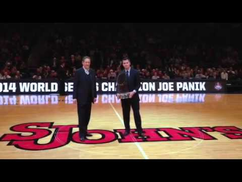 Joe Panik honored at Madison Square Garden