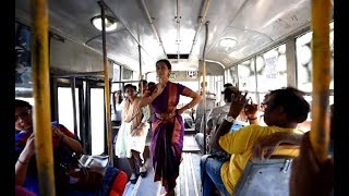 Bharatanatyam dancer's performance on moving bus leaves passengers awestruck - TIMESOFINDIACHANNEL