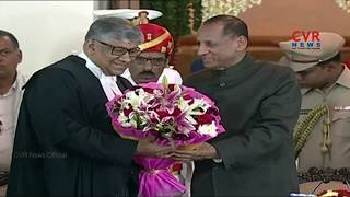 Justice Radhakrishnan sworn in as Chief Justice of Hyderabad High Court | CVR News - CVRNEWSOFFICIAL