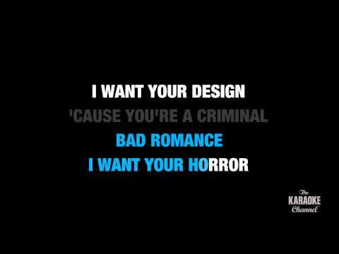 Bad Romance in the Style of &quot;Lady Gaga&quot; with lyrics (no lead vocal)