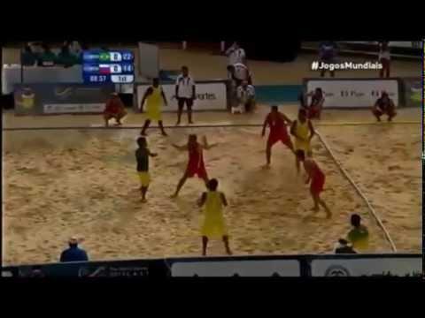 Brasil - Rusia. Final Balonmano Playa World Games 2013.