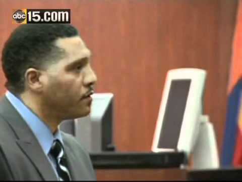 Mark Goudeau speaks to jurors