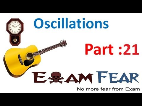 Physics Oscillations part 21 (Simple harmonic Motion : Pendulum) CBSE class 11
