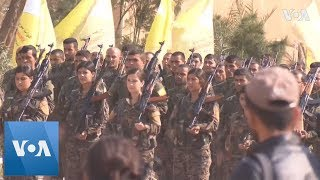 Syrian Democratic Forces Parade Announcing Victory Over Islamic State - VOAVIDEO