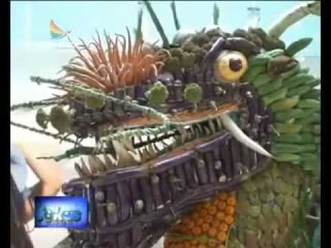 Dragon Art of Fruit & Vegetable Carving - Kreasi Unik Tristar Institute. Fokus Pagi Indosiar