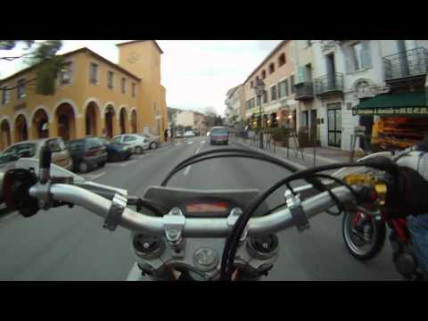 KTM 525 exc Winter ride on the french riviera