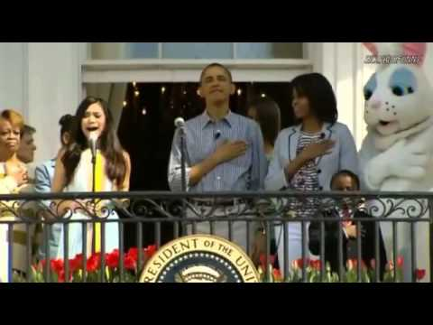 Jessica Sanchez sings National Anthem at White House