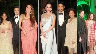 Bollywood Stars at Arpita Khan's reception - EXCLUSIVE