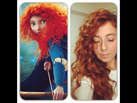 Princess Merida Hair Tutorial - capelli ricci come Merida (The Brave-Ribelle)