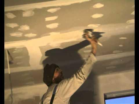 Finisare tavan gipscarton cu masini de pe www.mscgroup.ro
