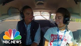 Black Teenager Flies High And Becomes Licensed Pilot | NBC News - NBCNEWS