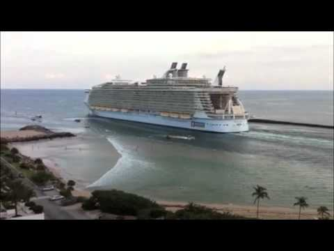 World s Largest Cruise Ship Sucks the Water off Fort Lauderdale Beach