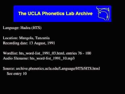 Hadza audio: hts_word-list_1991_10