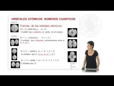 Compuestos químicos: enlace y nomenc. Orbitales atómicos, números cuánticos. © UPV