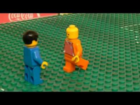 La final del mundial 2010 en Lego