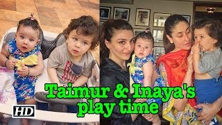 Taimur & Inaya enjoy play time with mommies - IANSLIVE