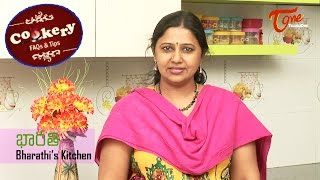 Cookery Tips & FAQs || How to Make Crispy and Puffed Poories | Bharathi's Kirchen - TELUGUONE