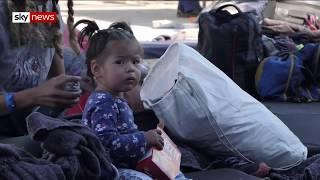 Tijuana border: Violence is the main reason migrant families seek asylum in US - SKYNEWS