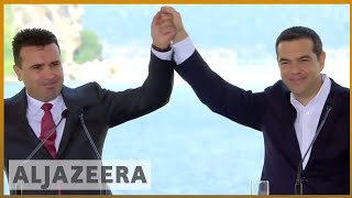 🇲🇰 🇬🇷 Macedonia signs agreement with Greece to changing country's name | Al Jazeera English - ALJAZEERAENGLISH