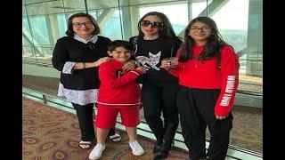 In Graphics: Karisma Kapoor's children Samaira and Kiaan bond with father Sunjay Kapur - ABPNEWSTV