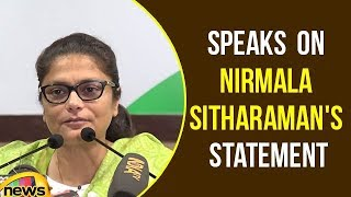Sushmita Dev addresses media at Congress HQ on Nirmala Sitharaman's Statement - MANGONEWS